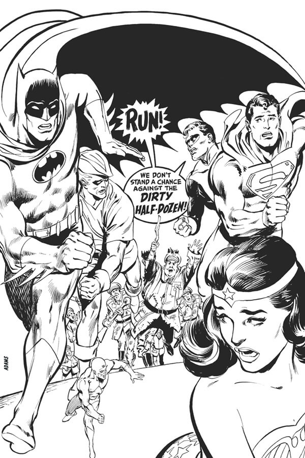Justice League of America 66 cover by Neal Adams