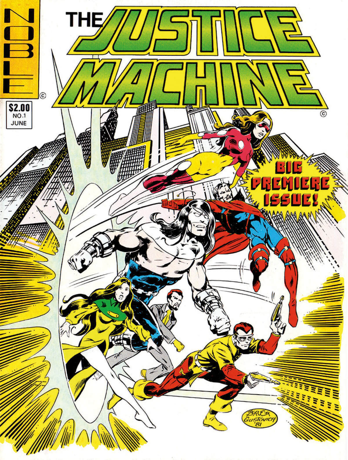 Justice Machine No 1 Cover Noble