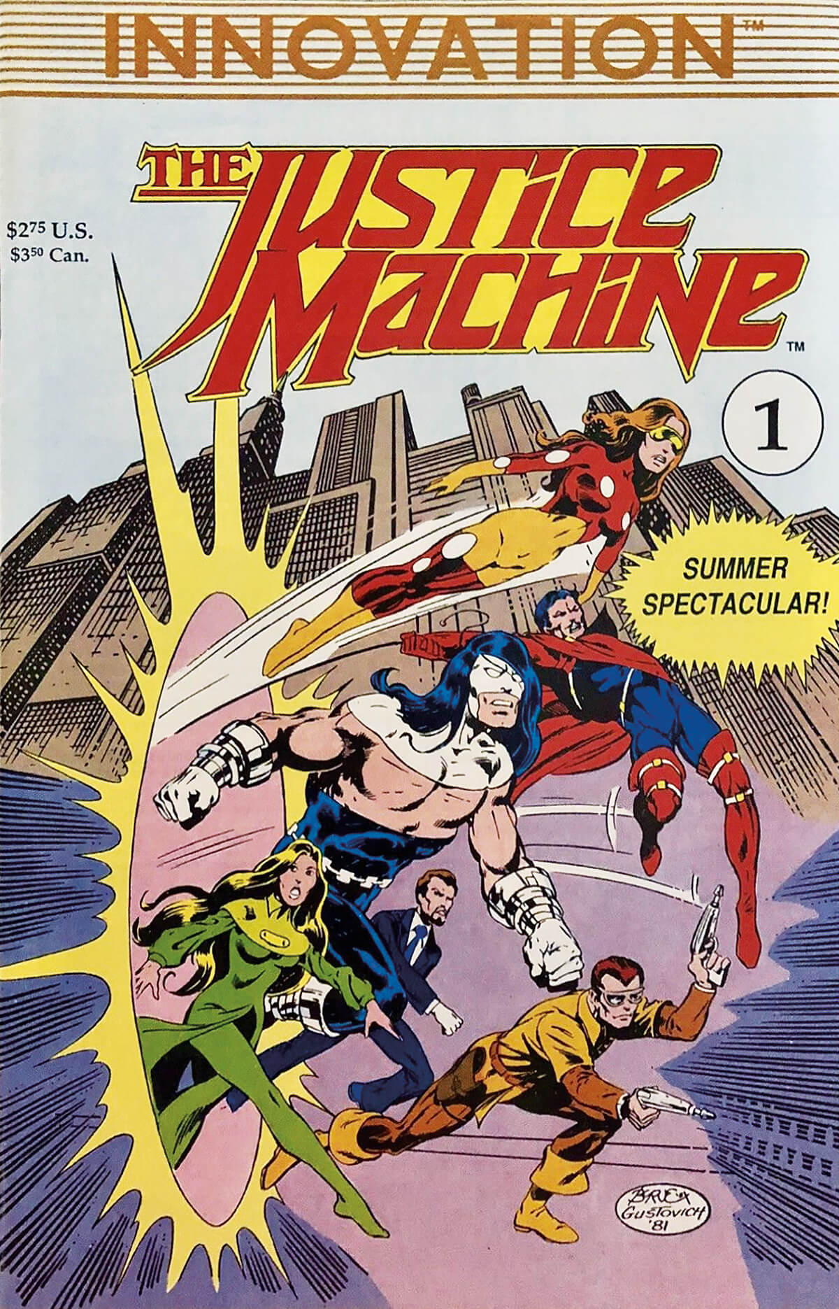 Justice Machine No 1 Cover Summer Spectacular Innovation