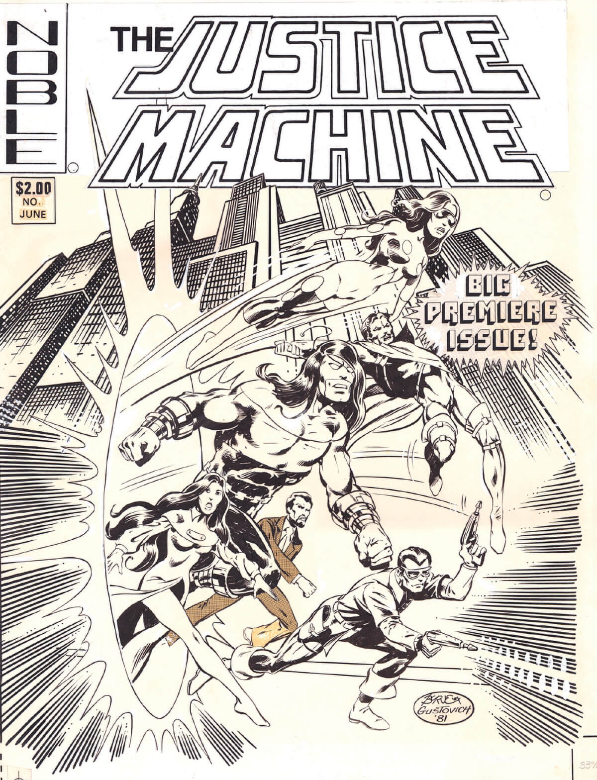 Justice Machine No 1 Cover by Byrne and Gustovich