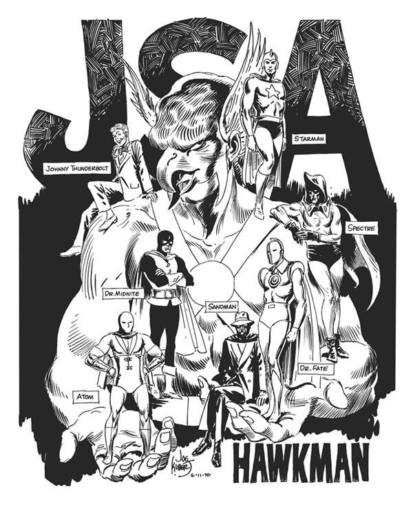 Hawkman and the JSA by Joe Kubert