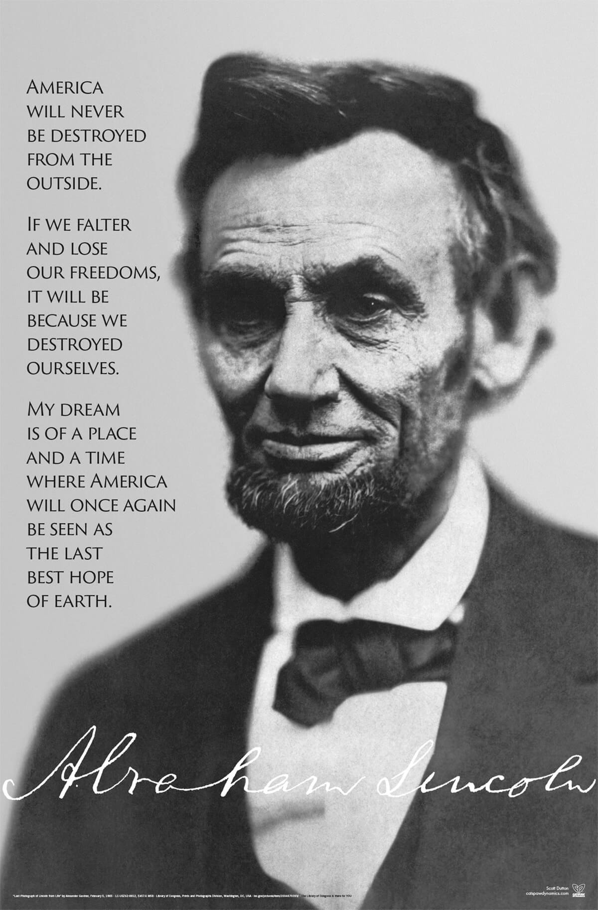 Last Photo of Lincoln 23x35 Poster