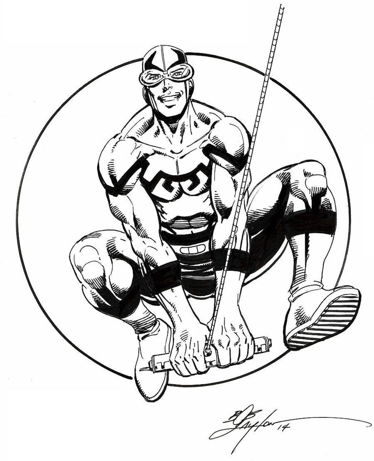 Blue Beetle Cover by Bob Layton
