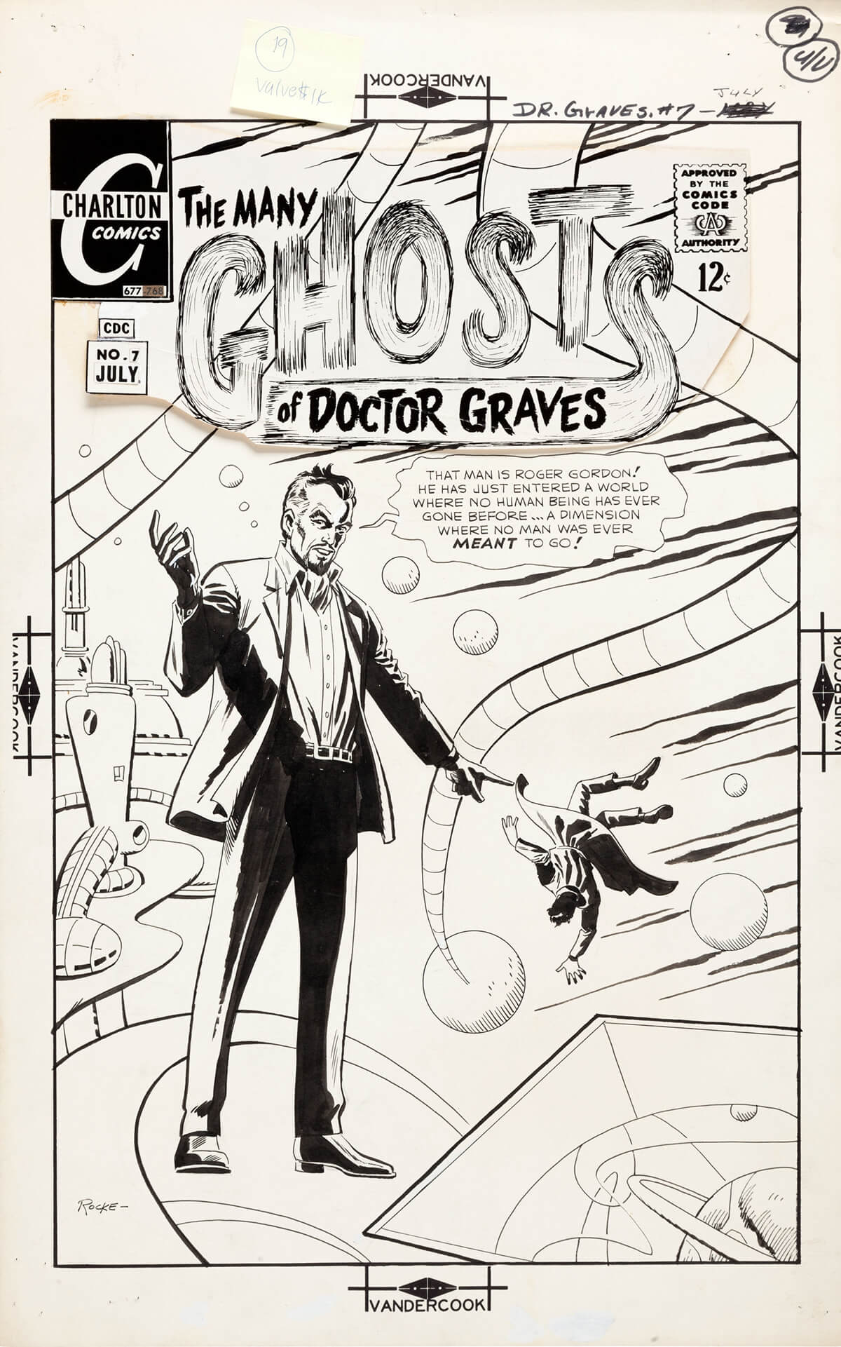 Many Ghosts Of Dr Graves 7 Cover by Rocco Mastroserio