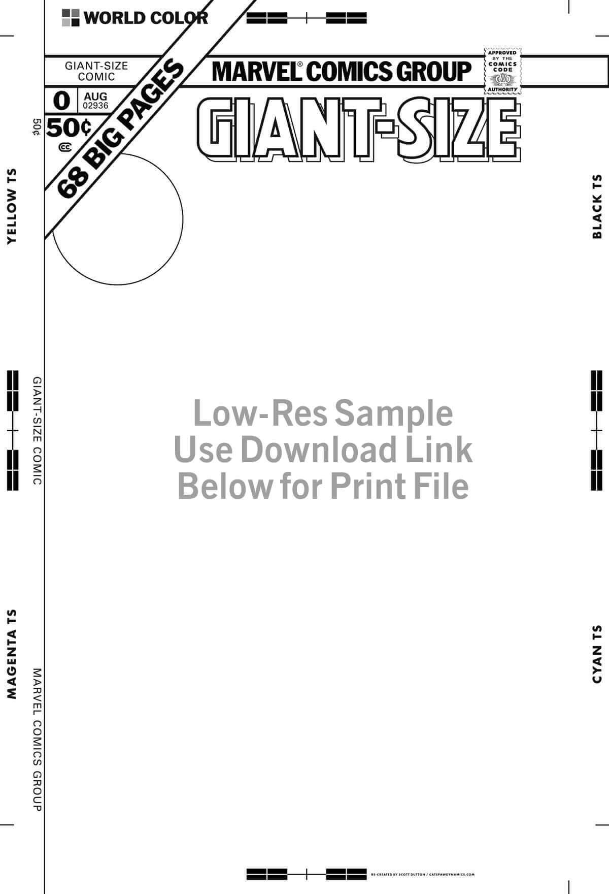 Marvel Giant-Size Cover Template