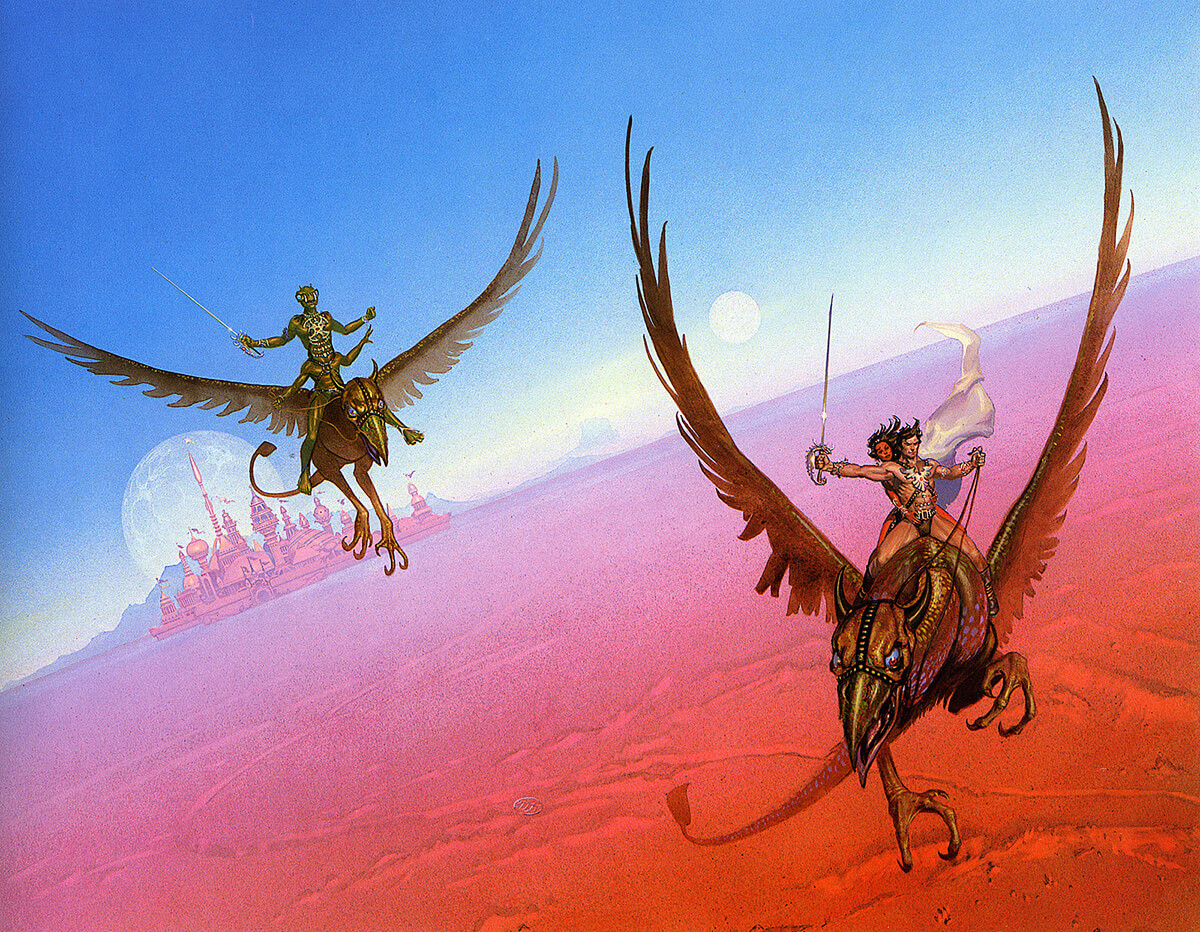 Michael Whelan 11 John Carter Of Mars Original