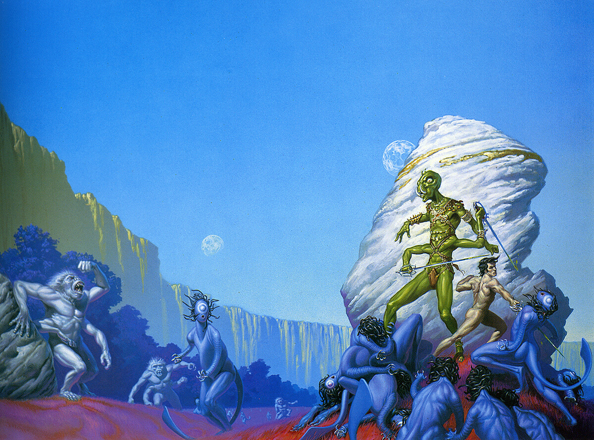 Michael Whelan 2 Gods Of Mars Original