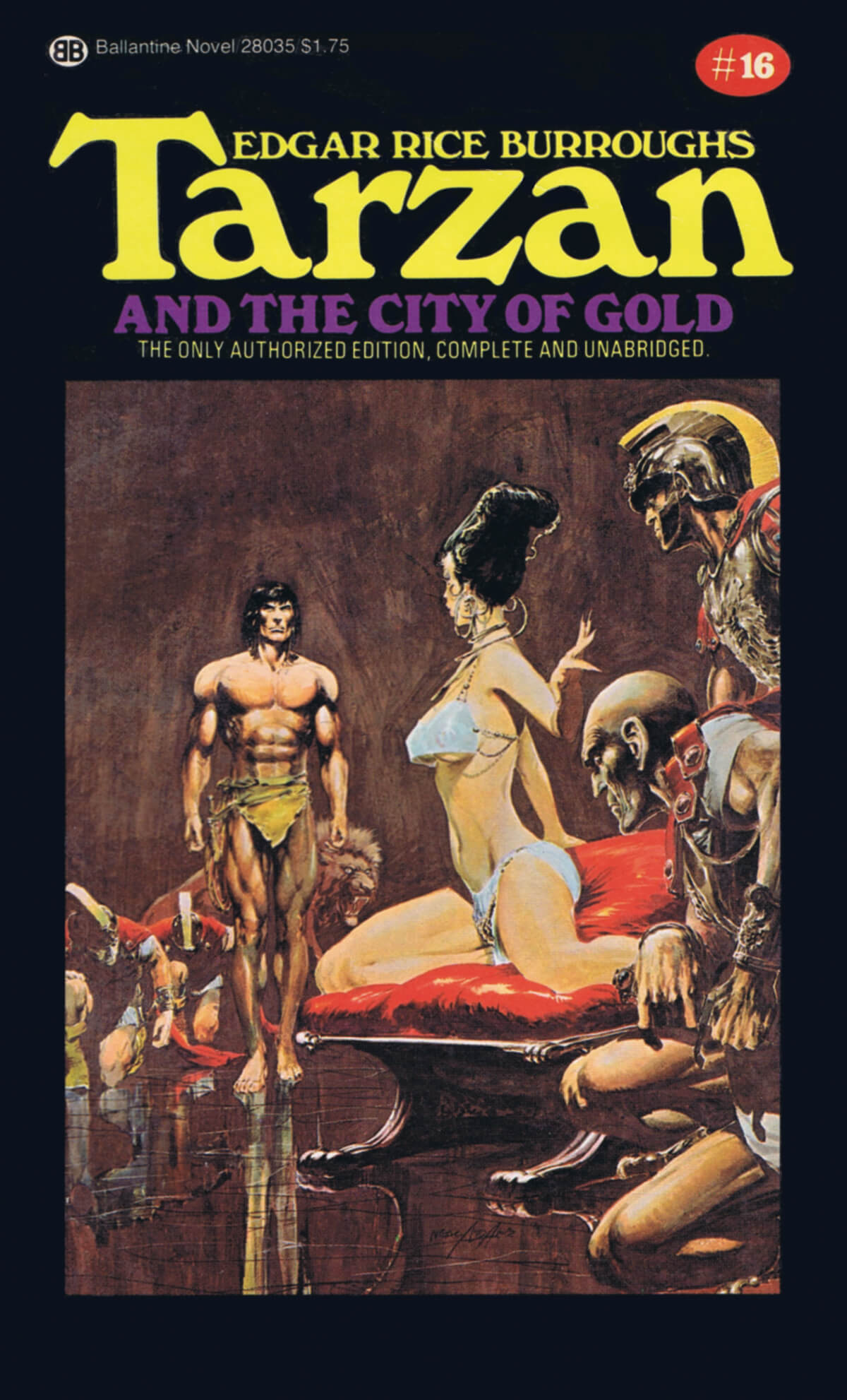 Neal Adams 16 Tarzan And The City Of Gold Cover