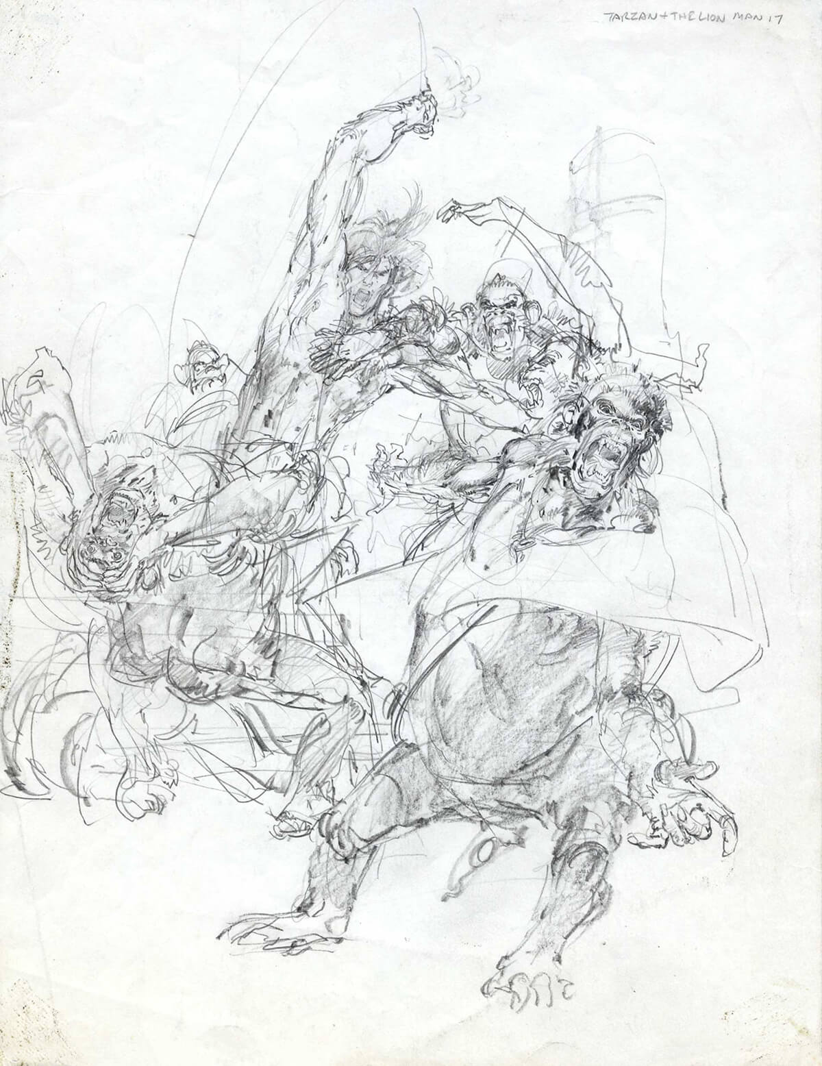 Neal Adams 17 Tarzan And The Lion Man Rough