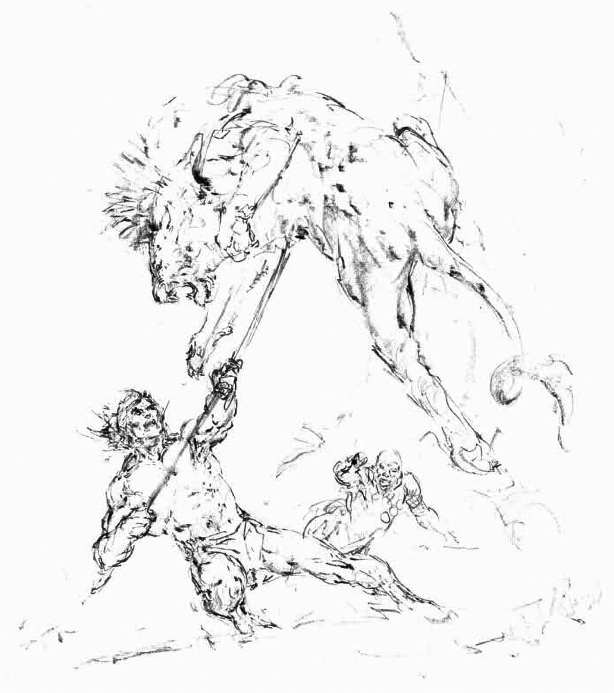 Neal Adams 2 The Return Of Tarzan Rough