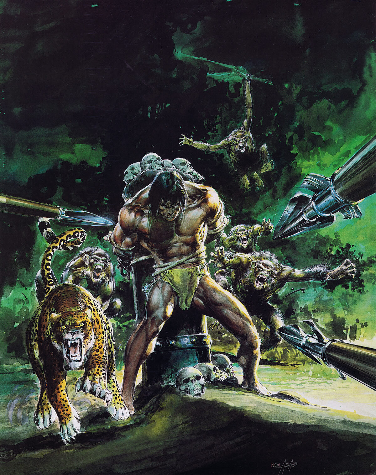 Neal Adams 3 The Beasts Of Tarzan Original
