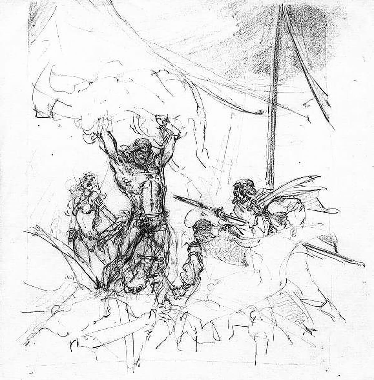 Neal Adams 4 The Son Of Tarzan Rough 2