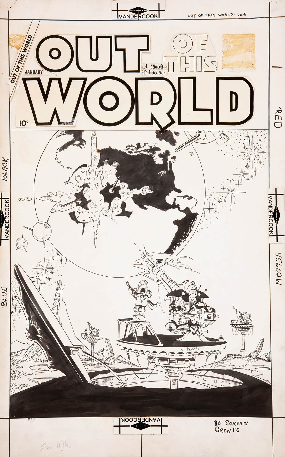 Out Of This World 11 Cover by Steve Ditko