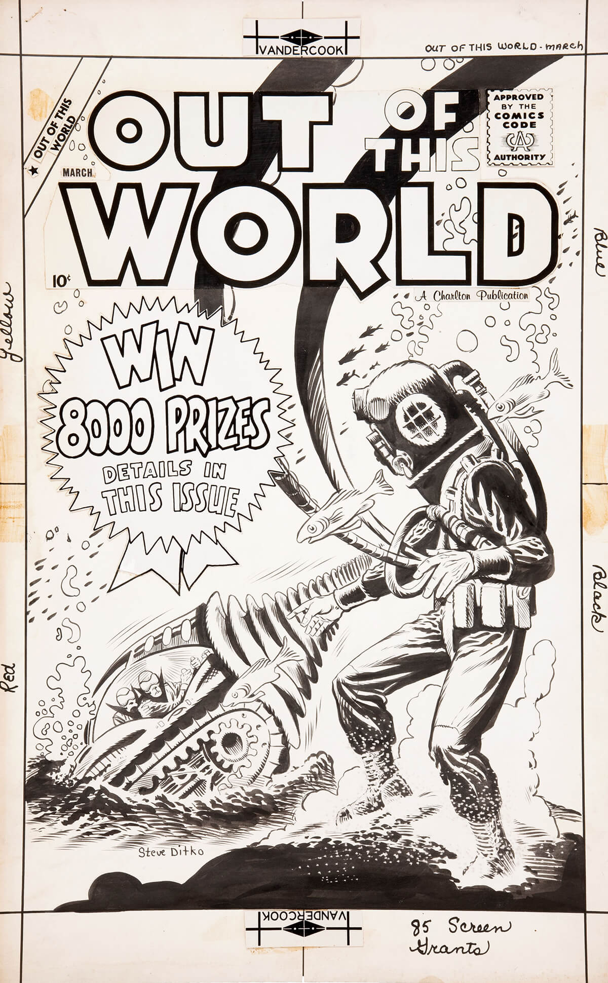 Out Of This World 12 Cover by Steve Ditko