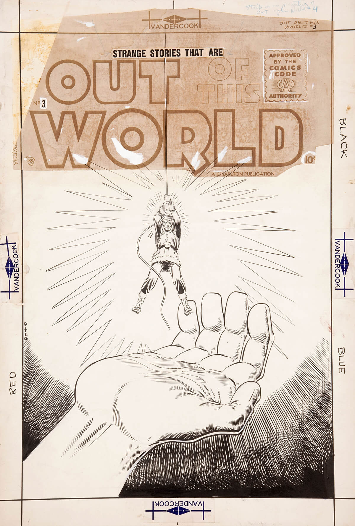 Out Of This World 3 Cover by Steve Ditko