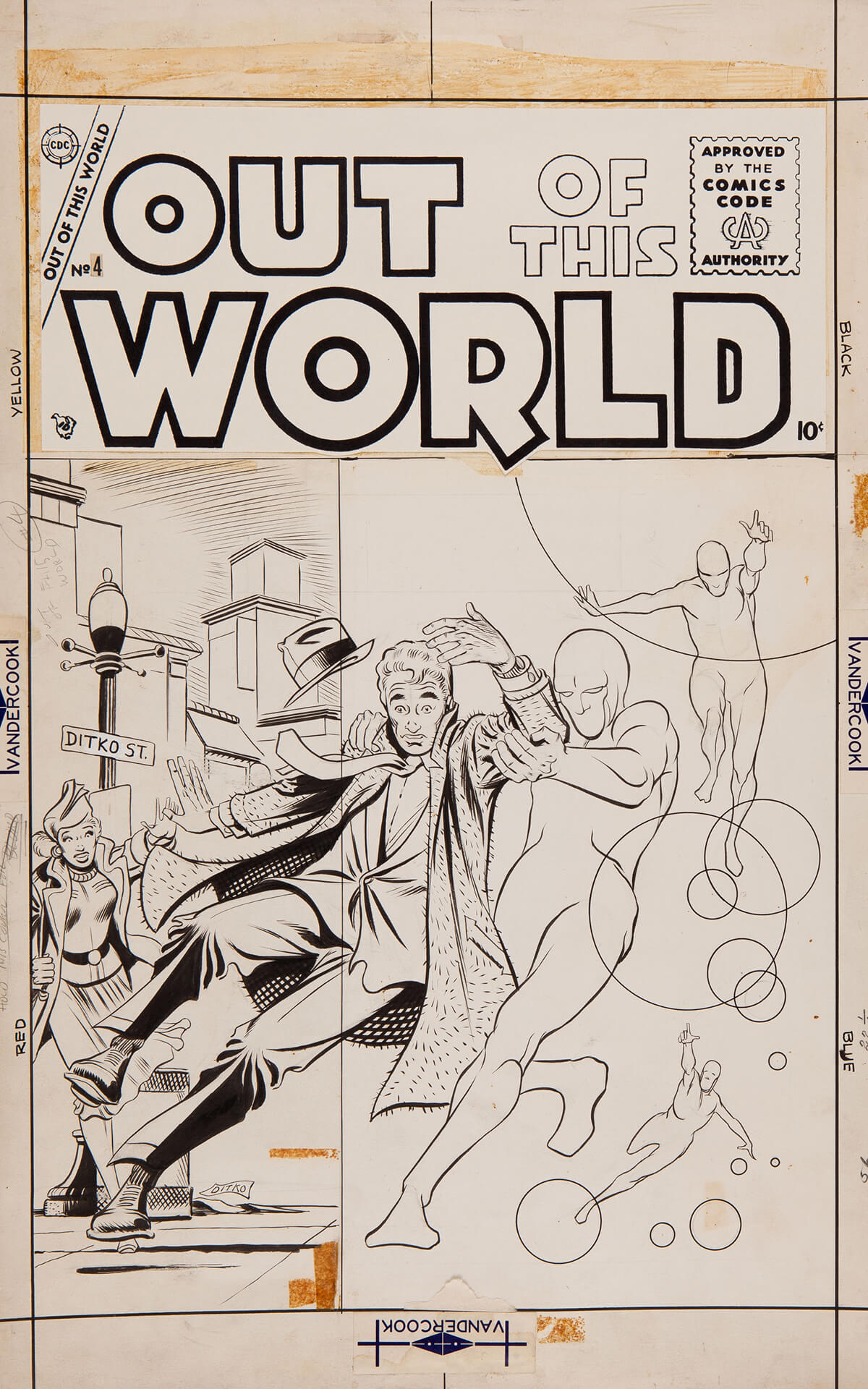 Out Of This World 4 Cover by Steve Ditko