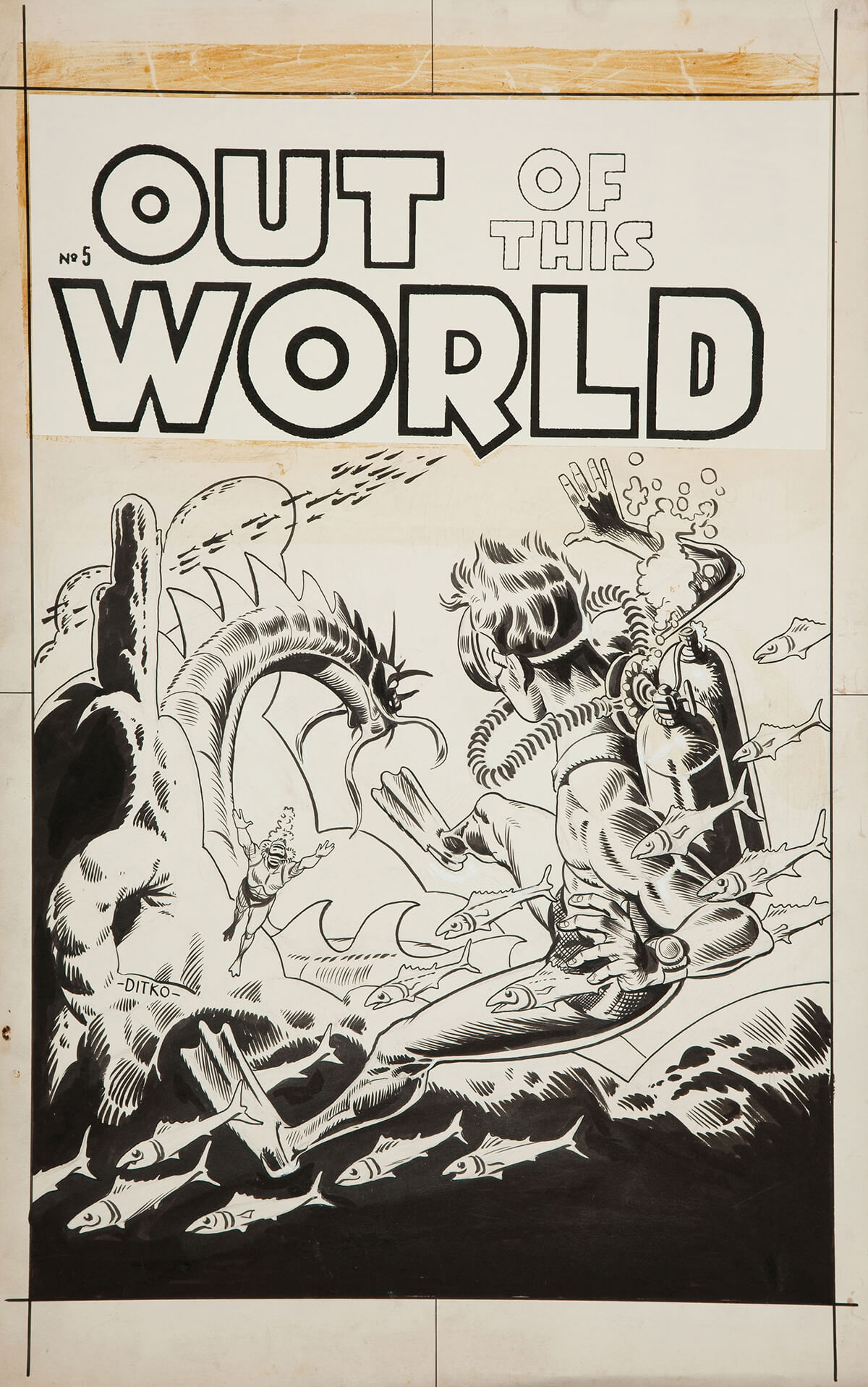 Out Of This World 5 Cover by Steve Ditko