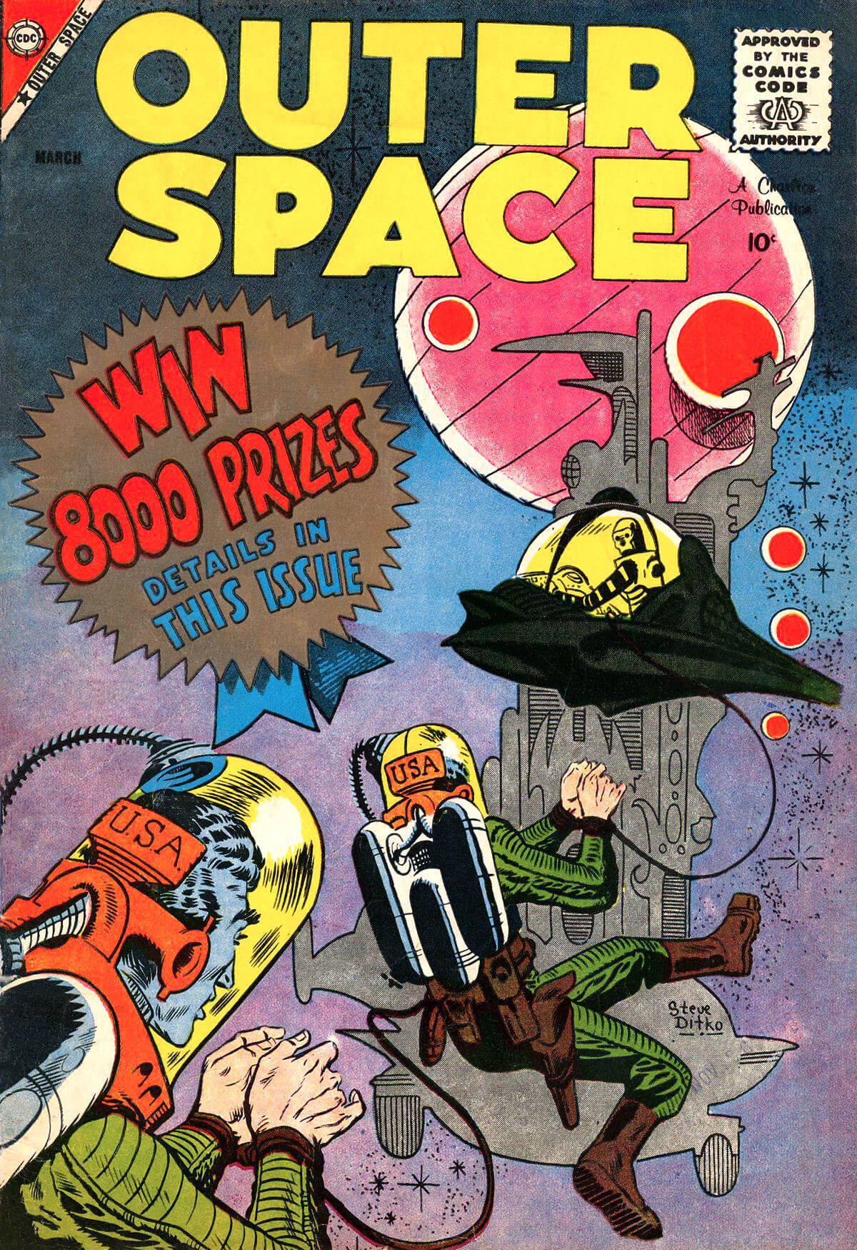 Outer Space 21 Cover by Steve Ditko