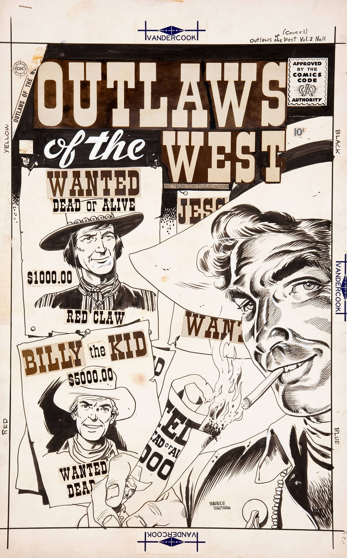 Outlaws Of The West 11 Cover by Maurice Whitman