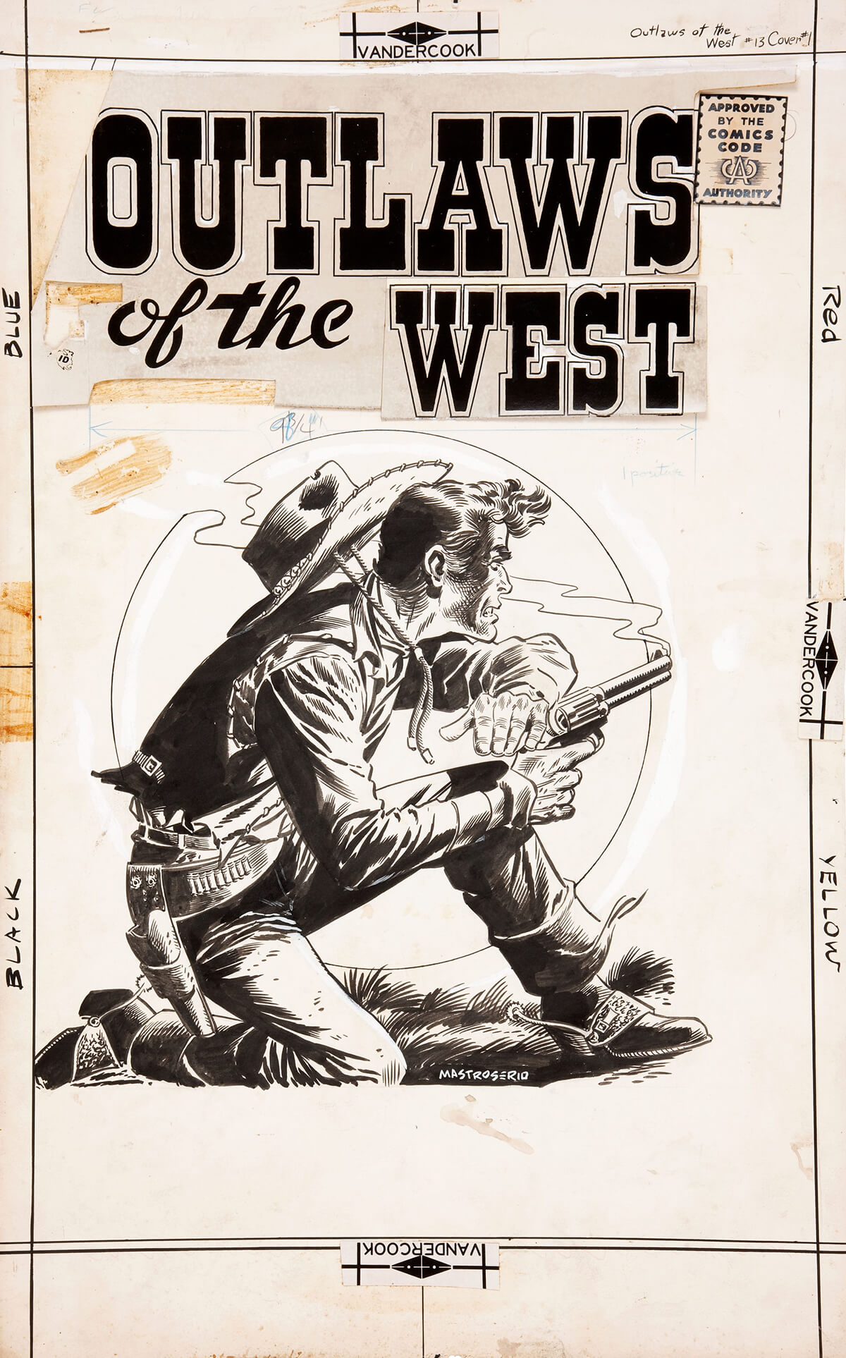 Outlaws Of The West 13 Cover by Rocco Mastroserio