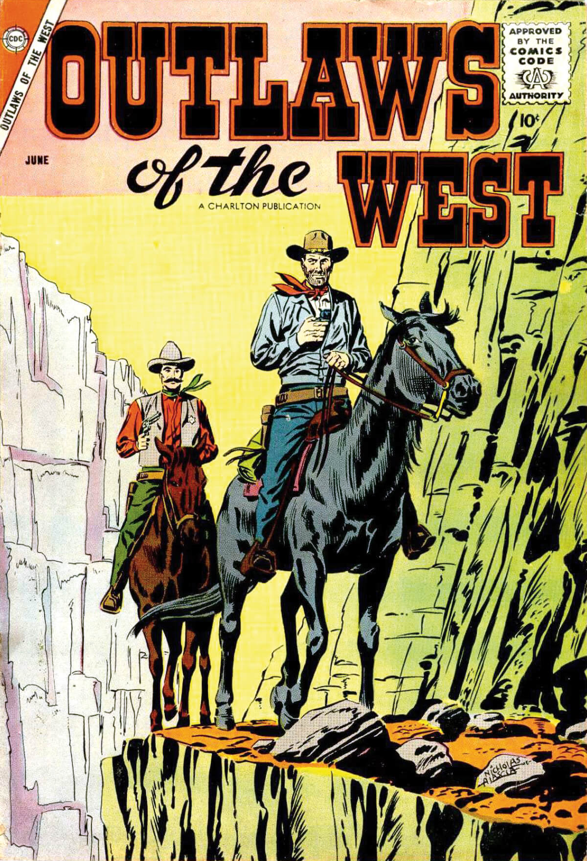 Charlton Comics Outlaws Of The West 15