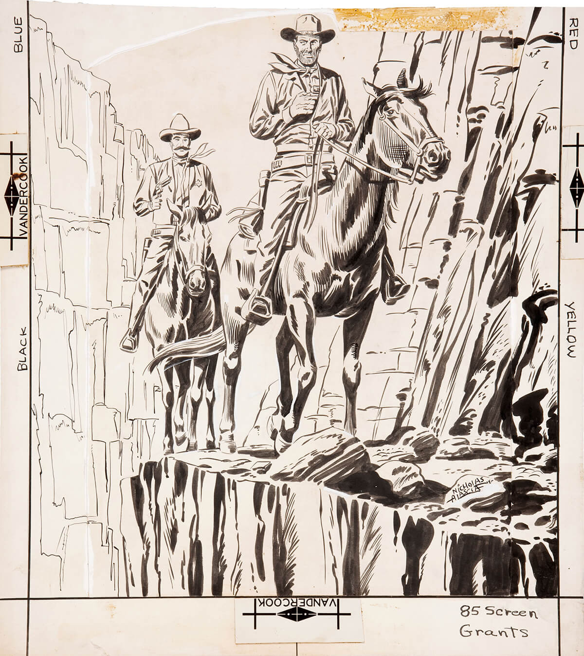 Outlaws Of The West 15 Cover by Charles Nicholas and Vince Alascia