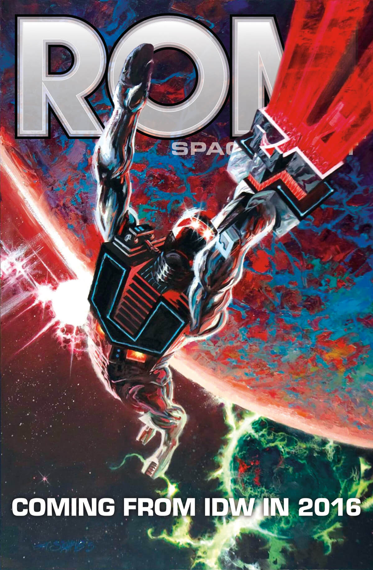 IDW ROM comics poster by Jeff Slemons