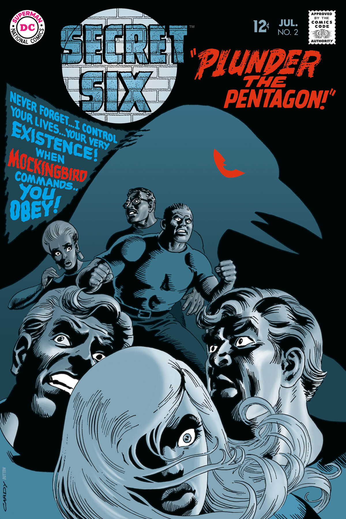 The Secret Six 2 Cover Colouring by Scott Dutton