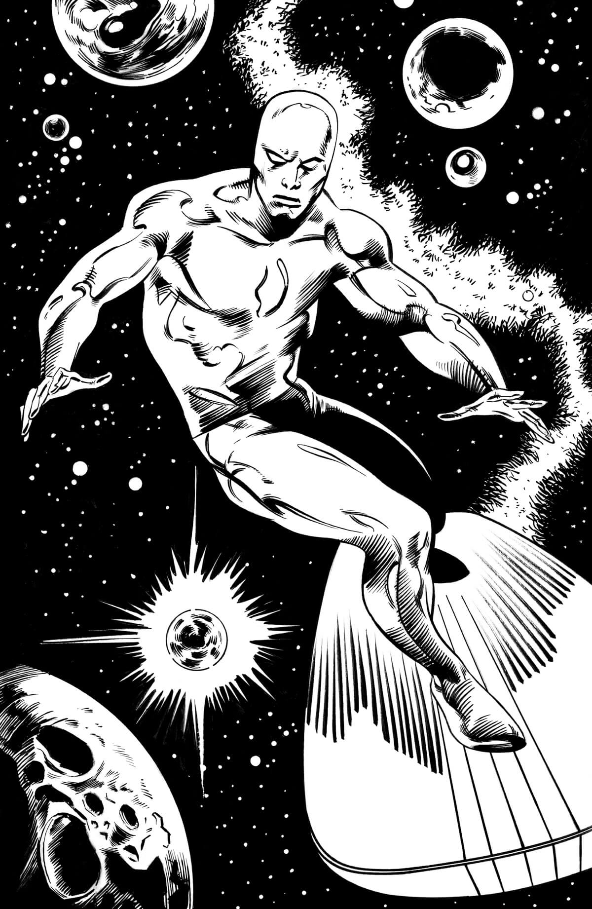 The Silver Surfer By John Buscema Catspaw Dynamics