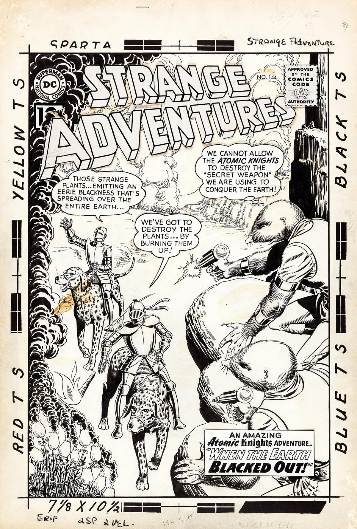 Strange Adventures 144 Original Art by Murphy Anderson