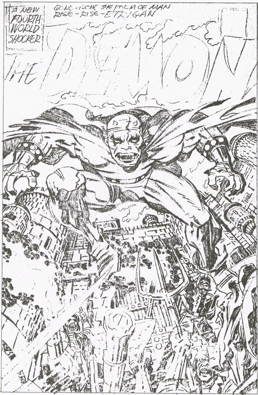 The Demon No. 1 Cover by Jack Kirby