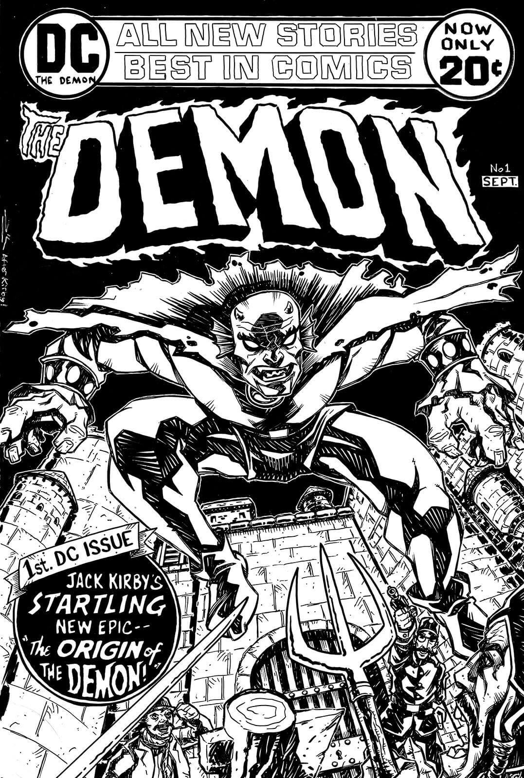 The Demon No. 1 Cover by Rich Woodall
