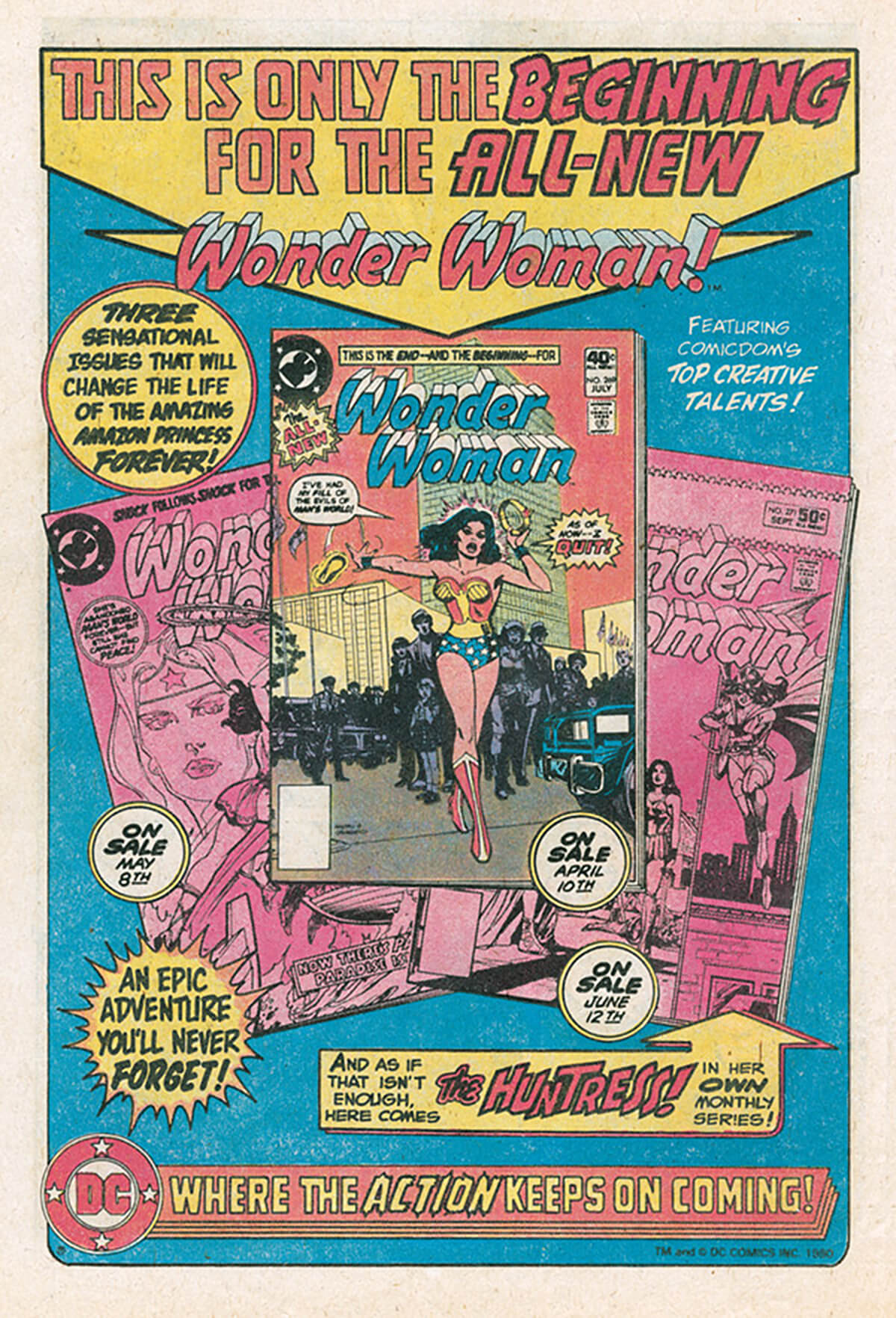 Wonder Woman DC Comics House Ad