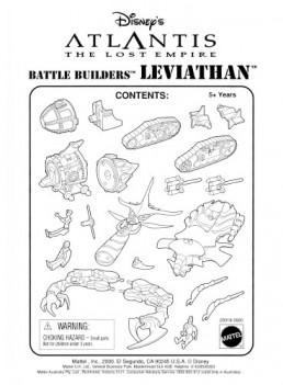 Disney Atlantis Mattel Leviathan