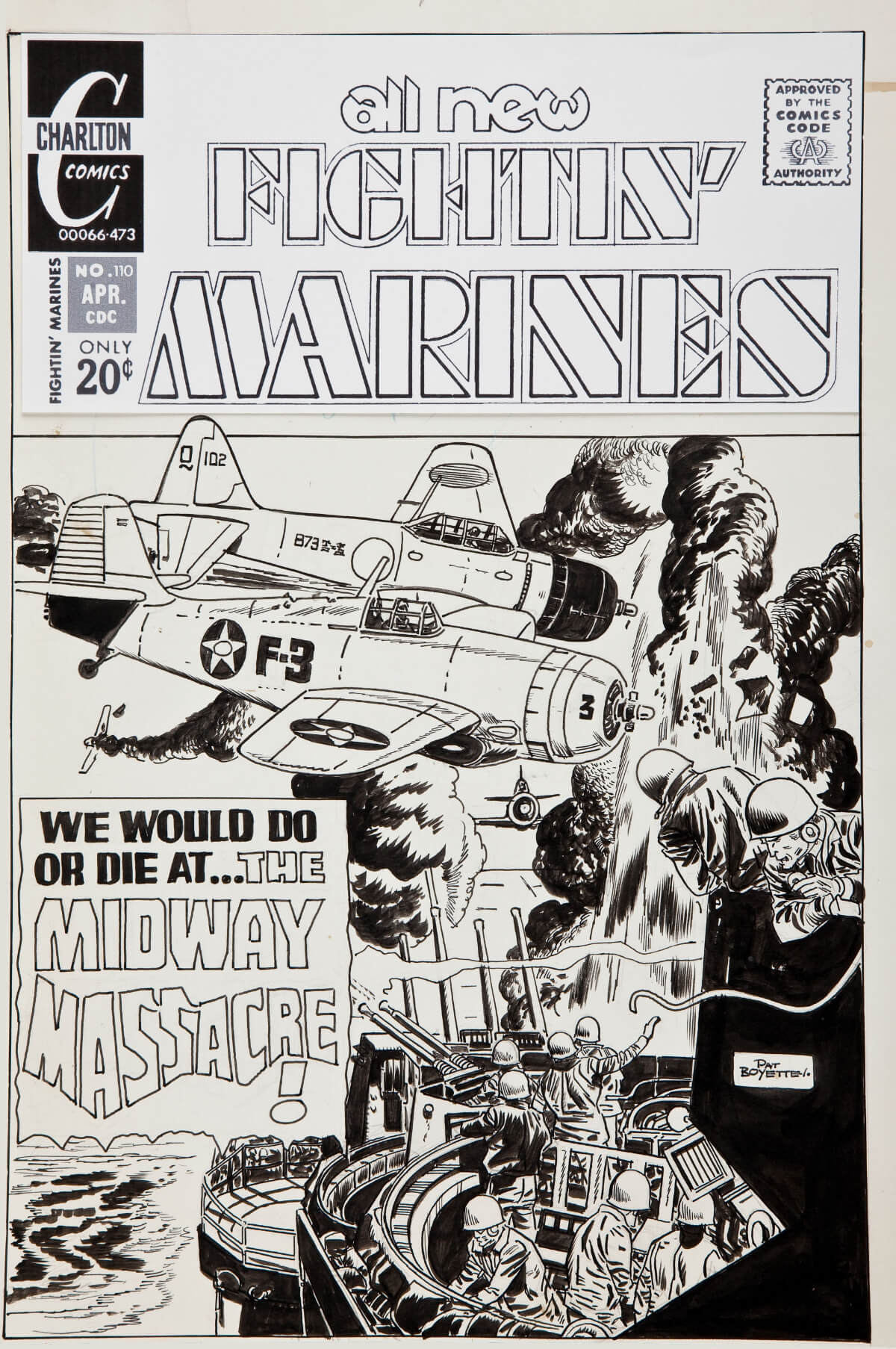 Fightin Marines 110 cover by Pat Boyette
