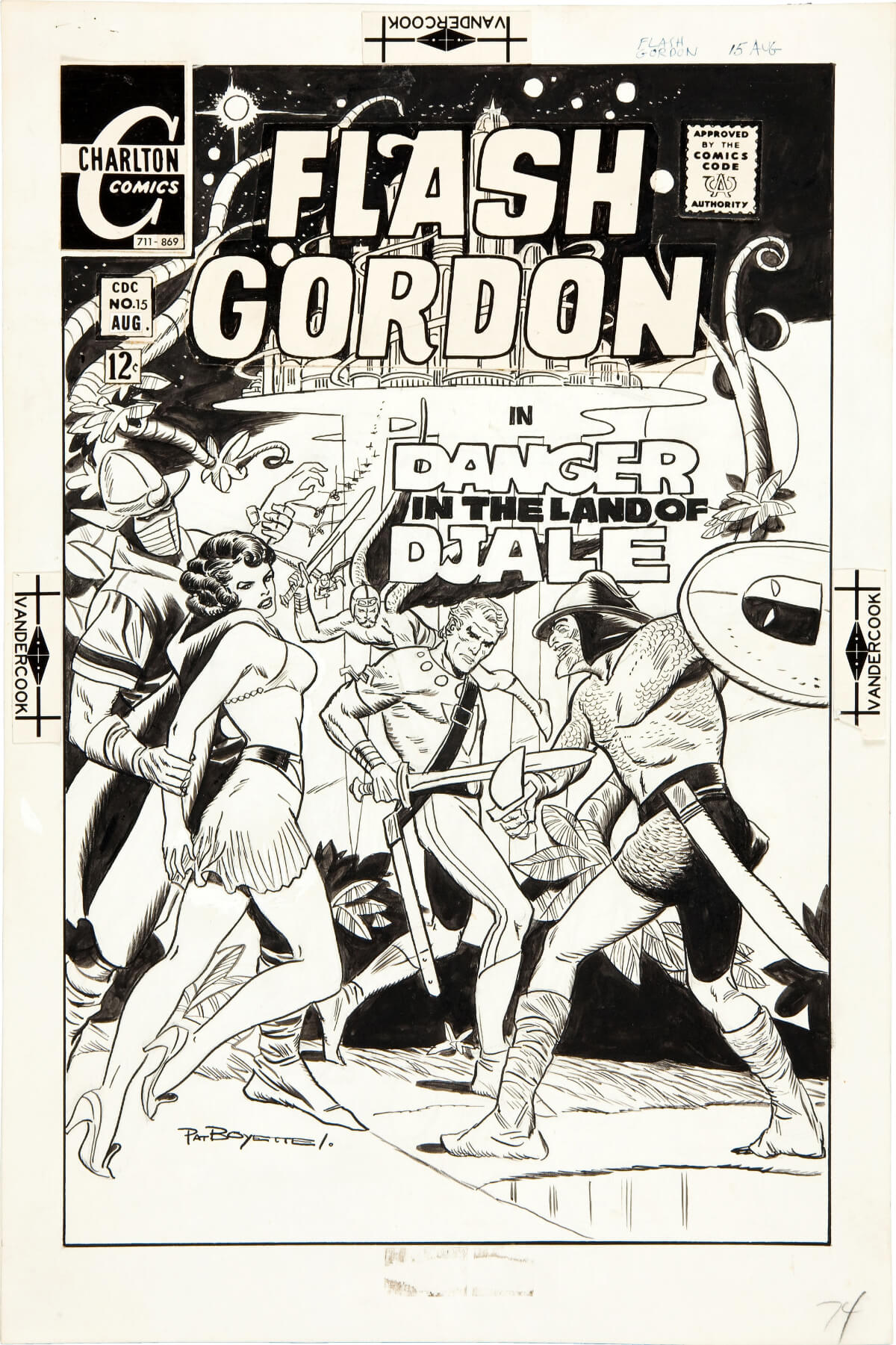 Flash Gordon 15 Cover by Pat Boyette