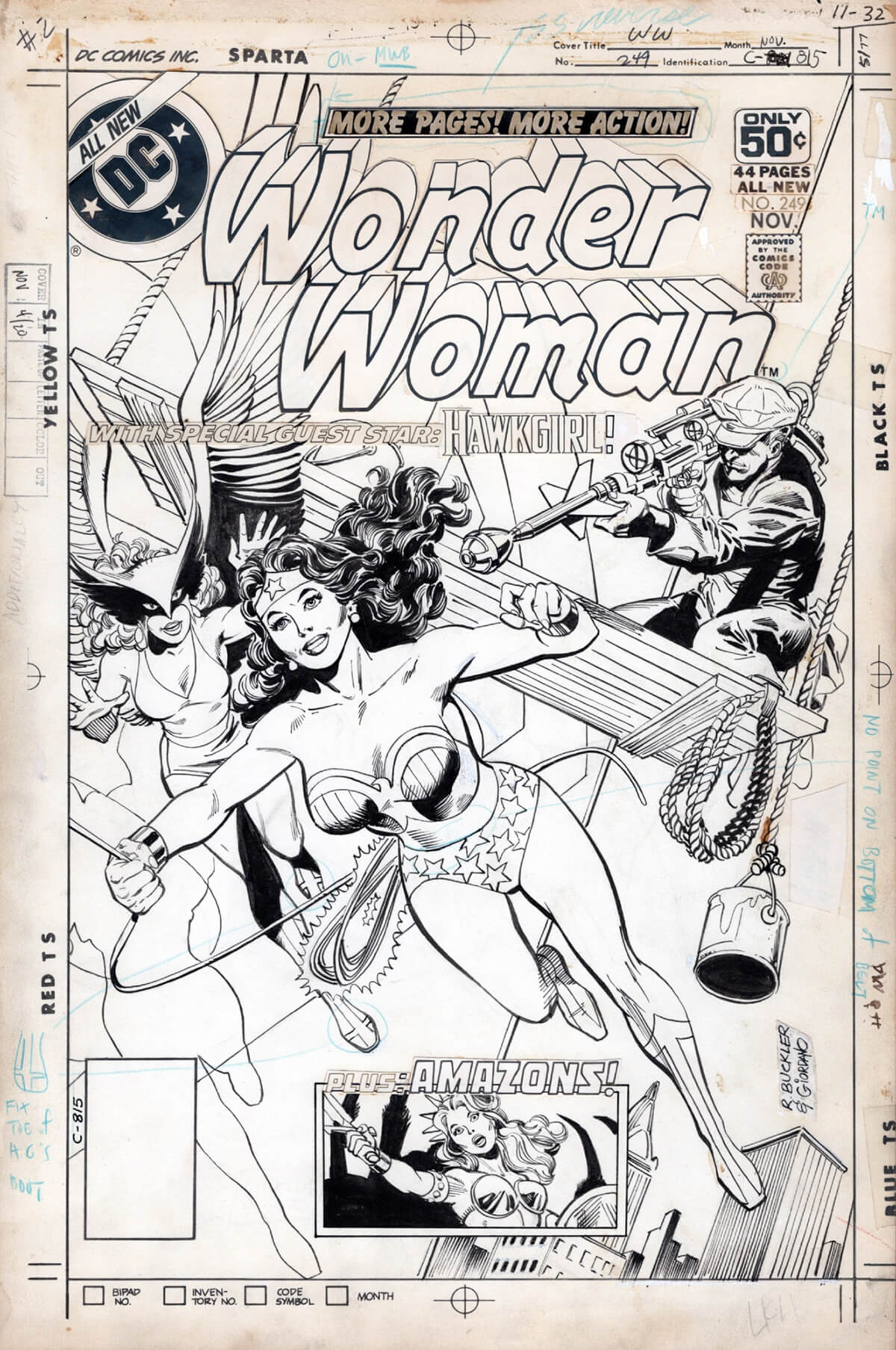 Wonder Woman 249 art by Rich Buckler and Dick Giordano
