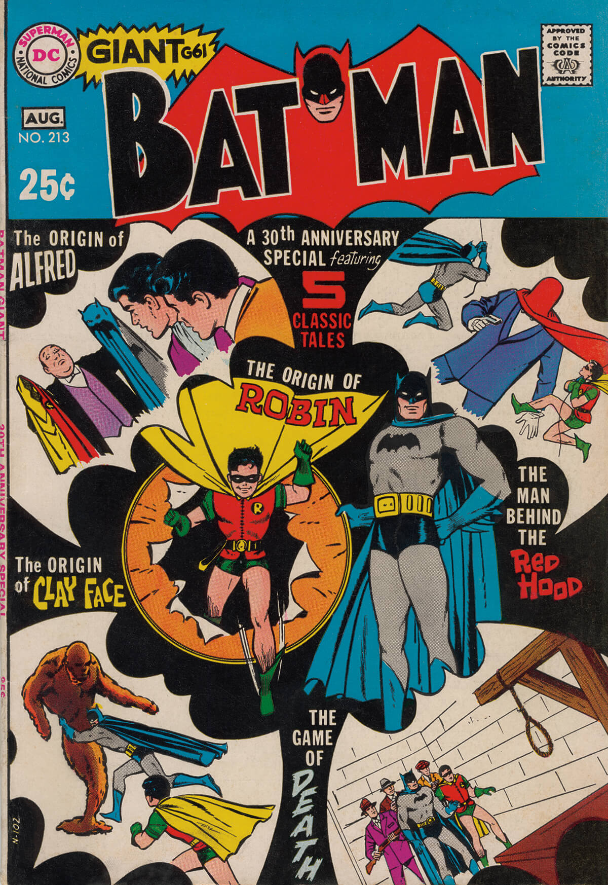 Batman 213 Cover Art by Bill Draut and Vince Colletta