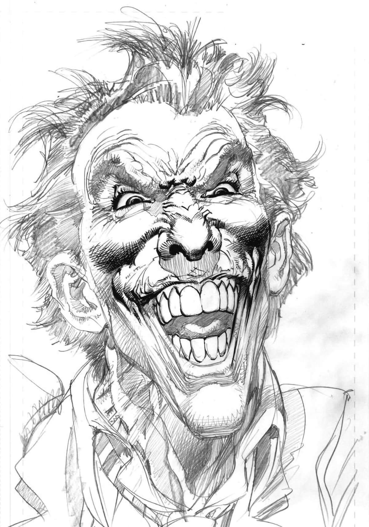 Joker pencils by Neal Adams