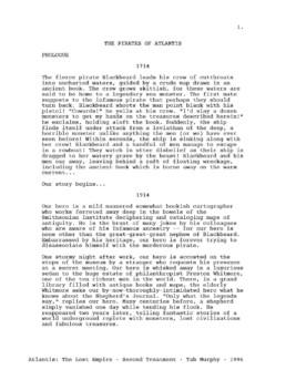 Atlantis Script 0c Treatment