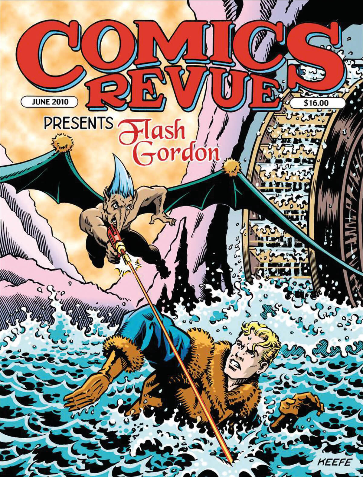 Comics Revue June 2010 Cover Flash Gordon by Jim Keefe
