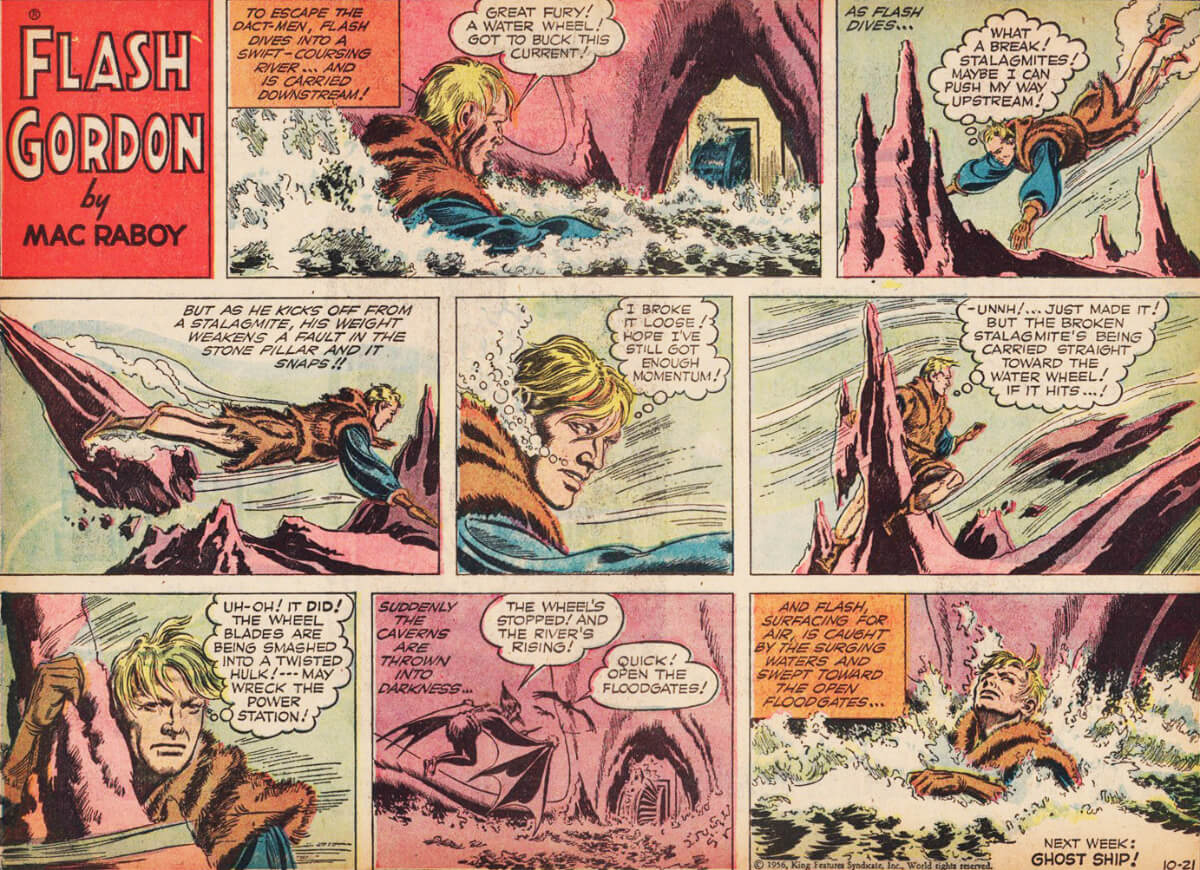 Flash Gordon Comic Strip by Mac Raboy
