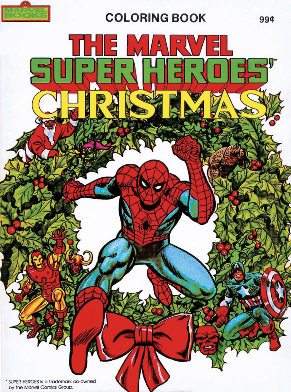 Marvel Super-Heroes Christmas Coloring Book 1984