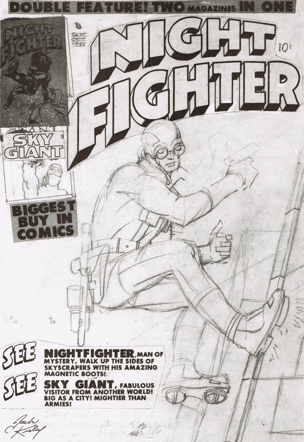Night Fighter by Jack Kirby