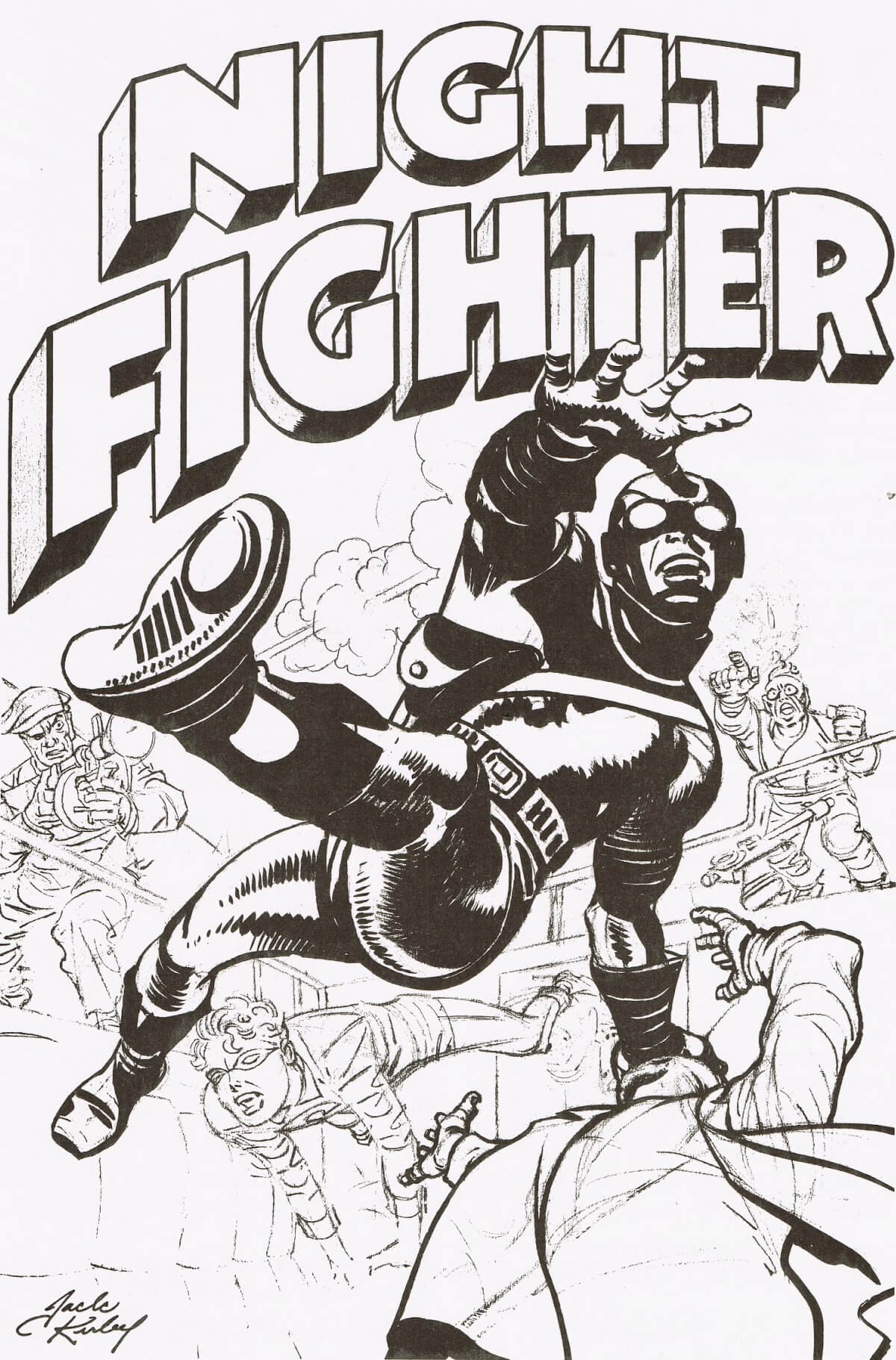 Night Fighter by Joe Simon and Jack Kirby